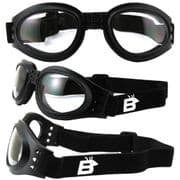 Birdz Parrot Folding Pocket Motorcycle Goggles with Clear Lens |Buy online @ Specs4Sports